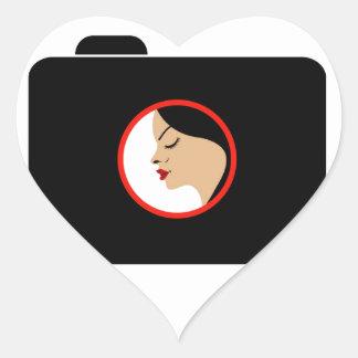 Model photo shoot- Photography camera Heart Sticker