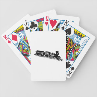 Model railroad bicycle playing cards