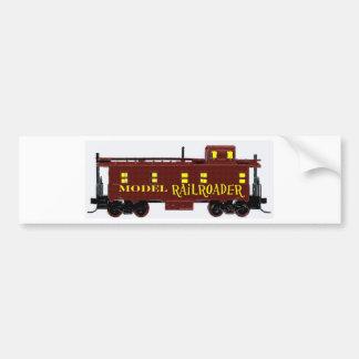 Model Railroad Caboose Bumper Sticker