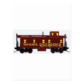 Model Railroad Caboose Postcard