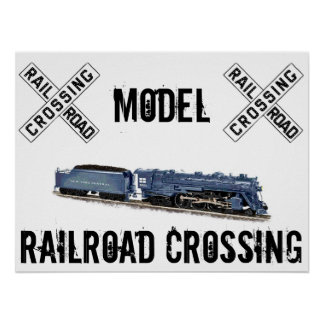 Model Railroad Crossing Poster