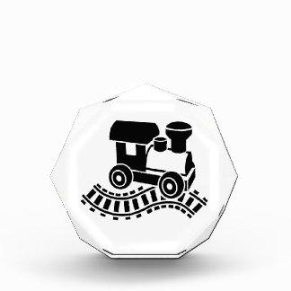 Model railroad rail locomotive acrylic award