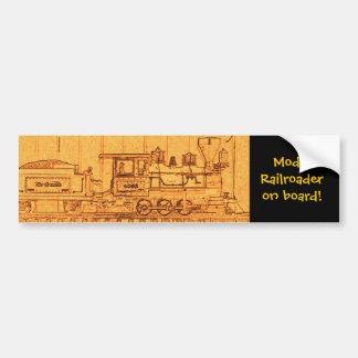 Model Railroader on board Bumper Sticker