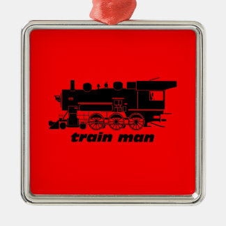 model railroading square metal christmas ornament