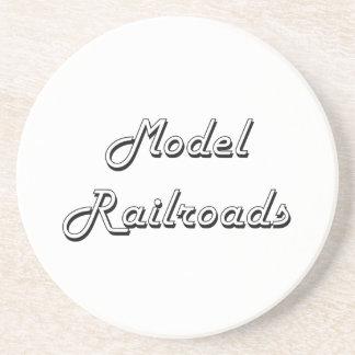 Model Railroads Classic Retro Design Beverage Coaster