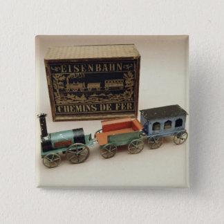 Model railway, c.1870 pinback button