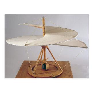 Model reconstruction of da Vinci's design Postcard
