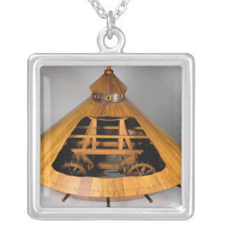 Model reconstruction of da Vinci's design Silver Plated Necklace