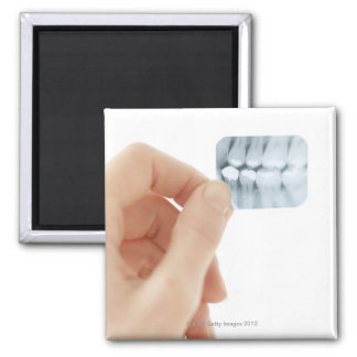 MODEL RELEASED. Dental X-ray. 2 Inch Square Magnet