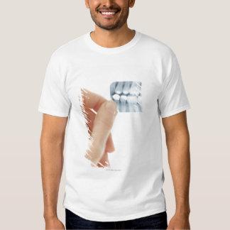 MODEL RELEASED. Dental X-ray. T-shirt