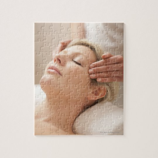 MODEL RELEASED. Facial. Jigsaw Puzzle