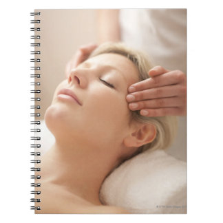 MODEL RELEASED. Facial. Notebook