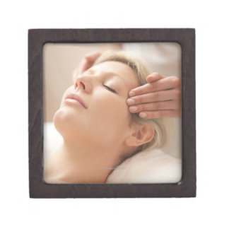 MODEL RELEASED. Facial. Premium Gift Boxes