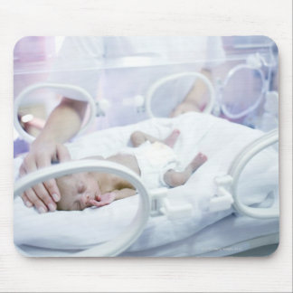 MODEL RELEASED. Nurse and premature baby. Mouse Pad