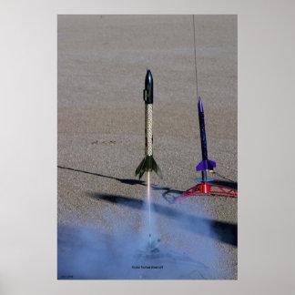 Model Rocket Blast-off Print