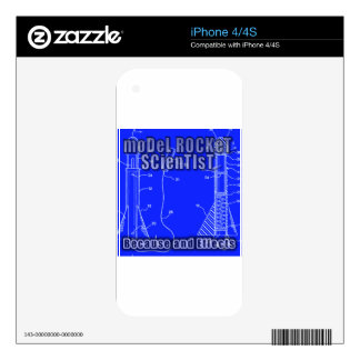 """Model Rocket Scientist """"Because and effects"""" album Decals For iPhone 4S"""
