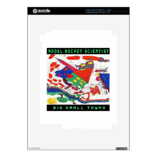 Model rocket Scientist Big small towns Decal For iPad 2