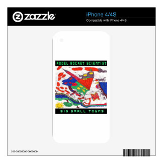 Model rocket Scientist Big small towns Decals For iPhone 4S