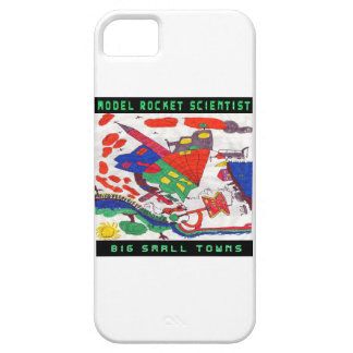 Model rocket Scientist Big small towns iPhone SE/5/5s Case