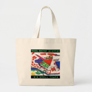 Model rocket Scientist Big small towns Large Tote Bag