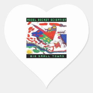 Model rocket Scientist Big small towns Heart Sticker