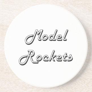 Model Rockets Classic Retro Design Drink Coasters