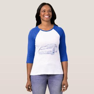 Model S Blue, New Nose, Blue Reglan T-Shirt