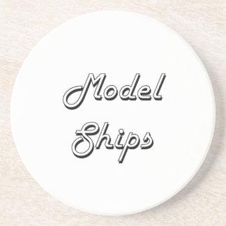 Model Ships Classic Retro Design Beverage Coaster