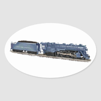 Model Steam Locomotive Oval Sticker