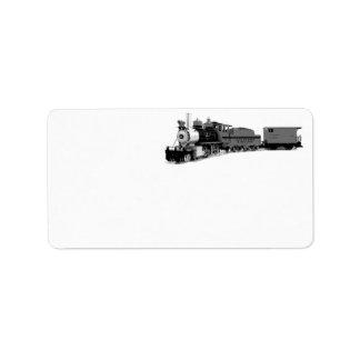 Model Steam Train Labels