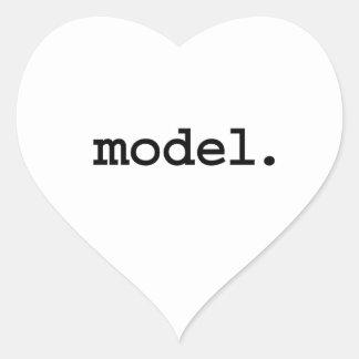 model. heart sticker