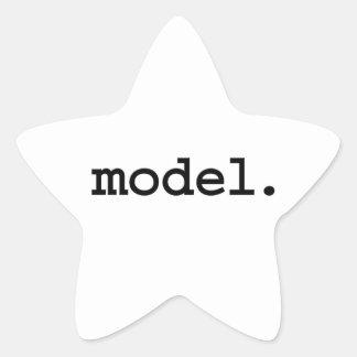 model. sticker