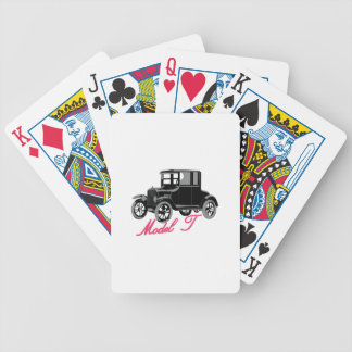 Model T Bicycle Playing Cards