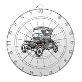 MODEL T CAR DARTBOARD WITH DARTS