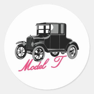 Model T Classic Round Sticker