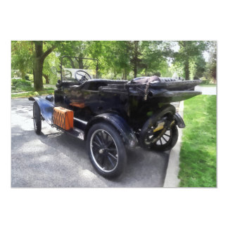 Model T With Luggage Rack' Personalized Invite