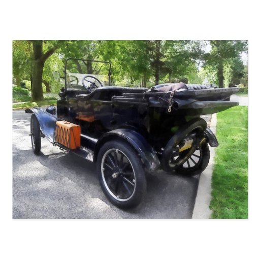 Model T With Luggage Rack' Postcard