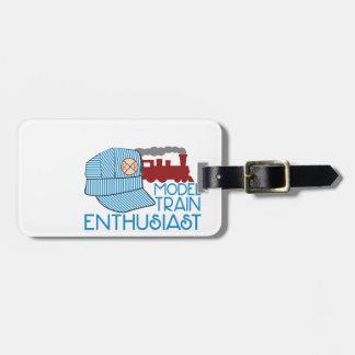 Model Train Enthusiast Bag Tag