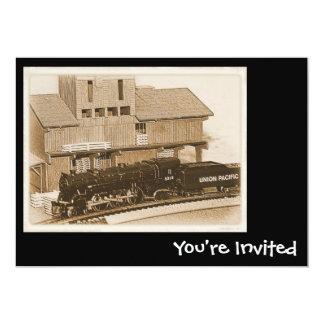 Model Train Invitations
