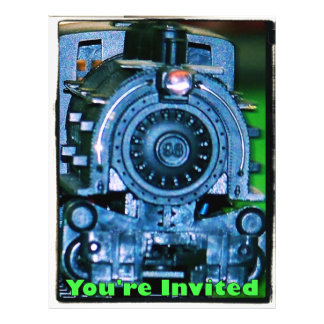Model Train Invitations Flyer