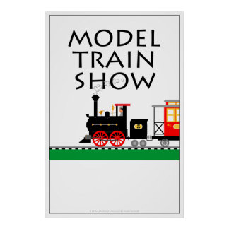 Model Train Show Poster