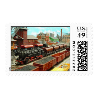 Model Train Station Postage