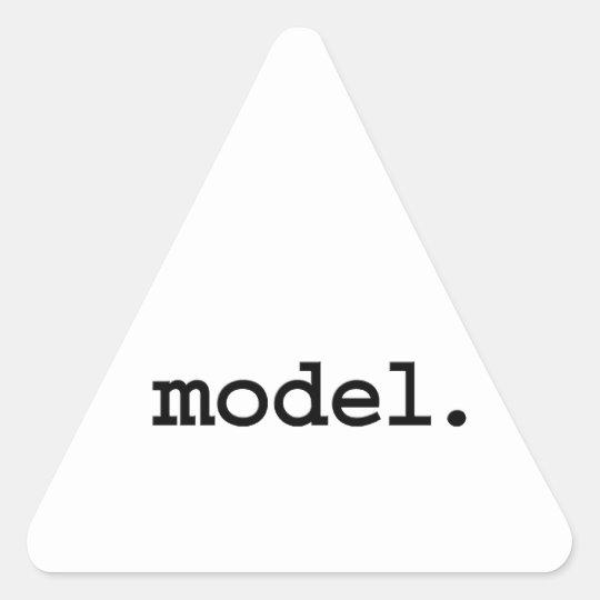 model. triangle sticker