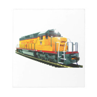 Model U.P. Diesel Locomotive Notepads