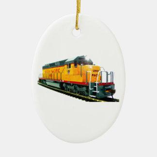 Model U.P. Diesel Locomotive Christmas Tree Ornament
