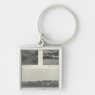 Model Vineyards, California Silver-Colored Square Keychain
