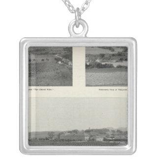 Model Vineyards, California Square Pendant Necklace