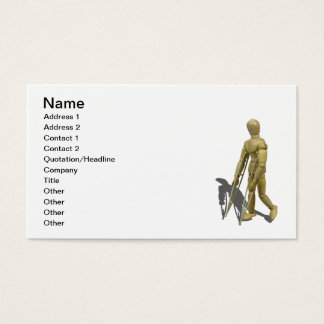 Model Walking with Crutches Business Card