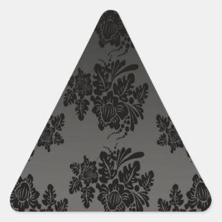 modela el design_flowers_black pegatina triangular