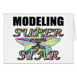 Modelado de la superestrella felicitaciones